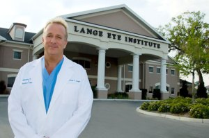 Dr. Lange in front of Lange Eye Institute in The Villages Florida.